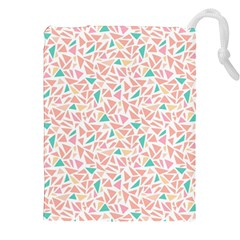 Geometric Abstract Triangles Background Drawstring Pouches (XXL)