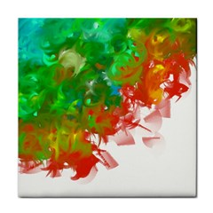 Digitally Painted Messy Paint Background Texture Tile Coasters