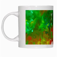 Digitally Painted Messy Paint Background Texture White Mugs