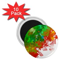Digitally Painted Messy Paint Background Texture 1.75  Magnets (10 pack)