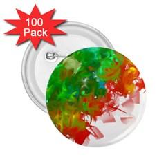 Digitally Painted Messy Paint Background Texture 2.25  Buttons (100 pack)