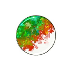 Digitally Painted Messy Paint Background Texture Hat Clip Ball Marker (4 Pack)