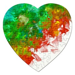 Digitally Painted Messy Paint Background Texture Jigsaw Puzzle (Heart)