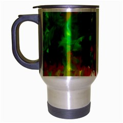 Digitally Painted Messy Paint Background Texture Travel Mug (Silver Gray)