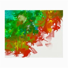 Digitally Painted Messy Paint Background Texture Small Glasses Cloth