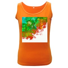 Digitally Painted Messy Paint Background Texture Women s Dark Tank Top