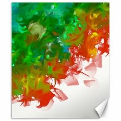 Digitally Painted Messy Paint Background Texture Canvas 8  X 10