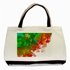 Digitally Painted Messy Paint Background Texture Basic Tote Bag (two Sides)