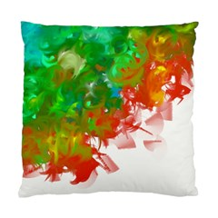 Digitally Painted Messy Paint Background Texture Standard Cushion Case (one Side)
