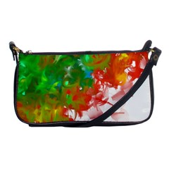 Digitally Painted Messy Paint Background Texture Shoulder Clutch Bags