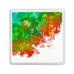 Digitally Painted Messy Paint Background Texture Memory Card Reader (square)