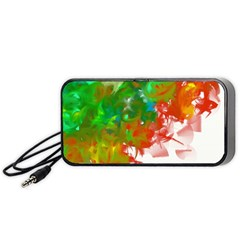 Digitally Painted Messy Paint Background Texture Portable Speaker (Black)