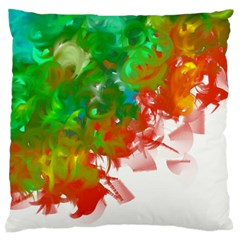 Digitally Painted Messy Paint Background Texture Large Cushion Case (Two Sides)