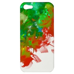 Digitally Painted Messy Paint Background Texture Apple Iphone 5 Hardshell Case