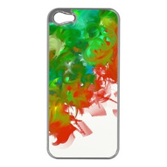 Digitally Painted Messy Paint Background Texture Apple iPhone 5 Case (Silver)