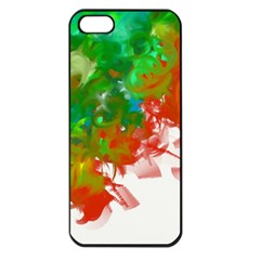 Digitally Painted Messy Paint Background Texture Apple iPhone 5 Seamless Case (Black)