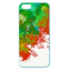 Digitally Painted Messy Paint Background Texture Apple Seamless Iphone 5 Case (color)
