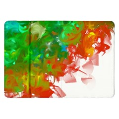 Digitally Painted Messy Paint Background Texture Samsung Galaxy Tab 8.9  P7300 Flip Case