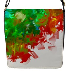 Digitally Painted Messy Paint Background Texture Flap Messenger Bag (s)