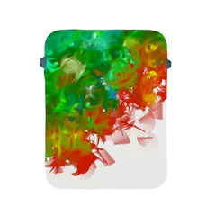 Digitally Painted Messy Paint Background Texture Apple Ipad 2/3/4 Protective Soft Cases