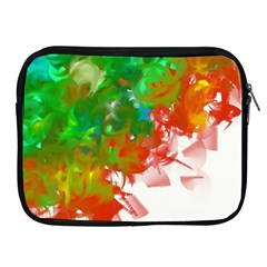 Digitally Painted Messy Paint Background Texture Apple iPad 2/3/4 Zipper Cases