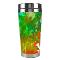 Digitally Painted Messy Paint Background Texture Stainless Steel Travel Tumblers