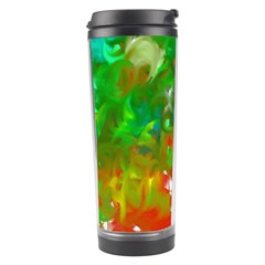 Digitally Painted Messy Paint Background Texture Travel Tumbler