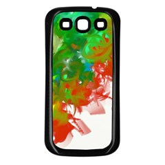 Digitally Painted Messy Paint Background Texture Samsung Galaxy S3 Back Case (Black)