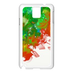 Digitally Painted Messy Paint Background Texture Samsung Galaxy Note 3 N9005 Case (White)