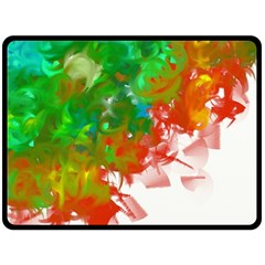 Digitally Painted Messy Paint Background Texture Double Sided Fleece Blanket (Large)