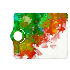 Digitally Painted Messy Paint Background Texture Kindle Fire HDX 8.9  Flip 360 Case