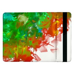Digitally Painted Messy Paint Background Texture Samsung Galaxy Tab Pro 12.2  Flip Case