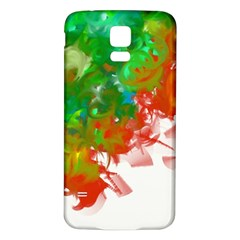 Digitally Painted Messy Paint Background Texture Samsung Galaxy S5 Back Case (White)