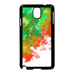 Digitally Painted Messy Paint Background Texture Samsung Galaxy Note 3 Neo Hardshell Case (black)
