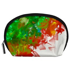 Digitally Painted Messy Paint Background Texture Accessory Pouches (Large)