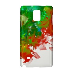 Digitally Painted Messy Paint Background Texture Samsung Galaxy Note 4 Hardshell Case