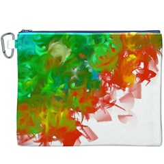 Digitally Painted Messy Paint Background Texture Canvas Cosmetic Bag (xxxl)