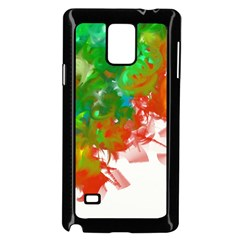 Digitally Painted Messy Paint Background Texture Samsung Galaxy Note 4 Case (black)