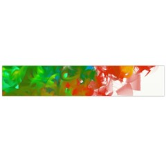 Digitally Painted Messy Paint Background Texture Flano Scarf (Large)