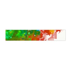 Digitally Painted Messy Paint Background Texture Flano Scarf (mini)