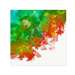Digitally Painted Messy Paint Background Texture Small Satin Scarf (Square)