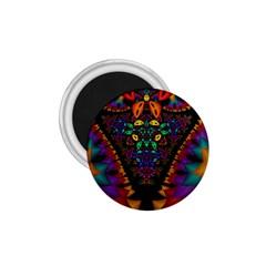 Symmetric Fractal Image In 3d Glass Frame 1 75  Magnets