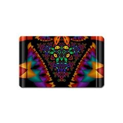 Symmetric Fractal Image In 3d Glass Frame Magnet (Name Card)