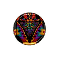 Symmetric Fractal Image In 3d Glass Frame Hat Clip Ball Marker (4 pack)