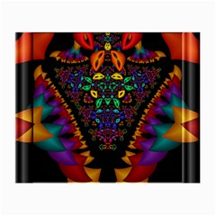 Symmetric Fractal Image In 3d Glass Frame Small Glasses Cloth