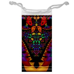 Symmetric Fractal Image In 3d Glass Frame Jewelry Bag