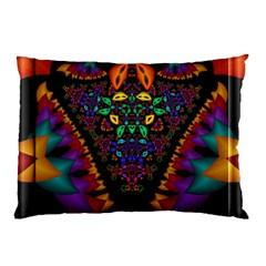 Symmetric Fractal Image In 3d Glass Frame Pillow Case