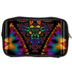 Symmetric Fractal Image In 3d Glass Frame Toiletries Bags 2 Side