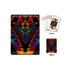 Symmetric Fractal Image In 3d Glass Frame Playing Cards (mini)