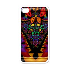 Symmetric Fractal Image In 3d Glass Frame Apple Iphone 4 Case (white)